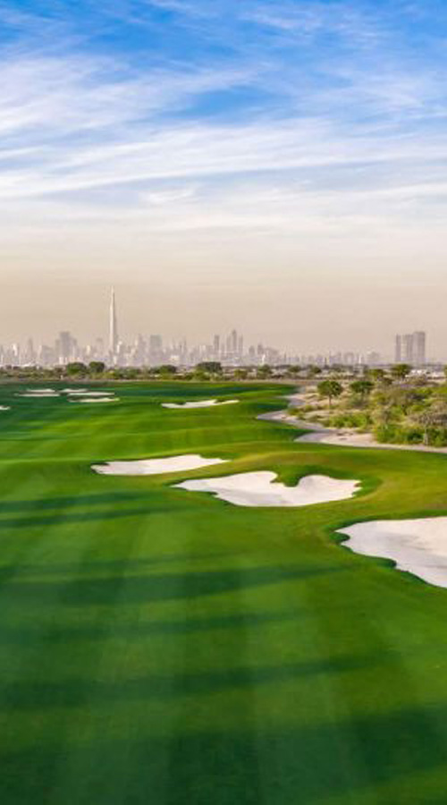 Dubai hills golf course constructed by Desert Group