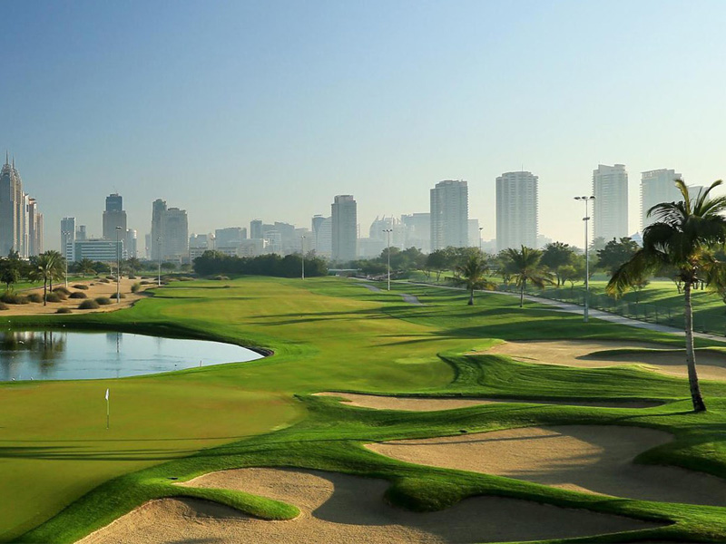 Emirates golf club constructed by Desert Group