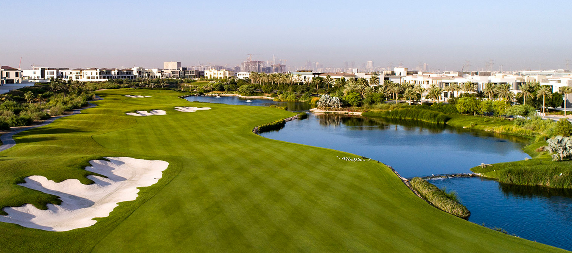 Dubai hills golf course constructed by Desert Group